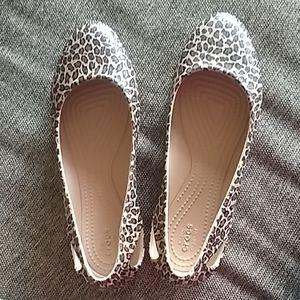 NEW leopard print crocs